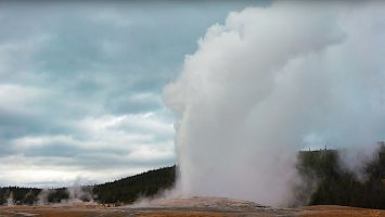 Old Faithful Eruption at Yellowstone National Park in 4K
